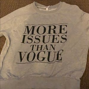more issues than Vogue sweater